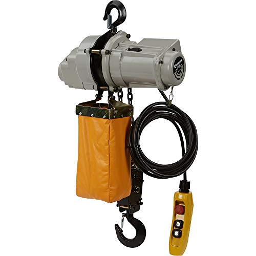 Strongway Round Chain Electric Hoist - 1-Ton Load Capacity, 9.8ft. Lift ()