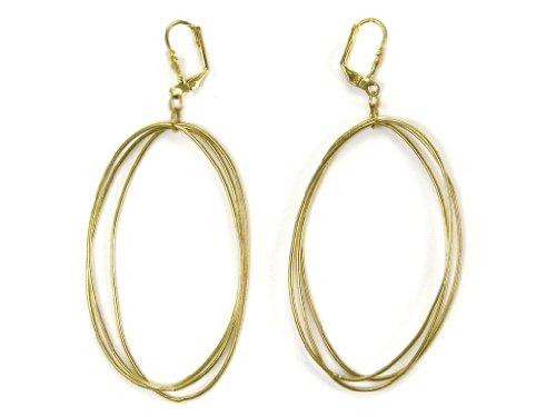 Edie Triple Oval Earrings Gold Tone