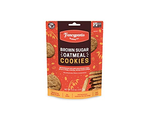 (Fancypants Baking Co. Nut Free Cookies | Buttery Delicious & Crunchy Brown Sugar Oatmeal | Non-GMO Bagged Cookies 4 pack (5oz) )
