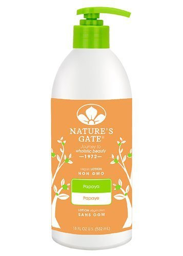 Nature's Gate Papaya Moisturizing Lotion for All Skin Types, 18-Ounce Bottles (Pack of 2)