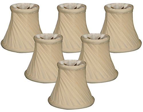 Royal Designs 5'' Twisted Bell Chandelier Lamp Shade, Eggshell, Set of 6, 3 x 5 x 4.5 (CS-716EG-6) by Royal Designs, Inc