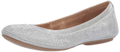 Bandolino Women's Edition Ballet Flat, Silver, 11 M US