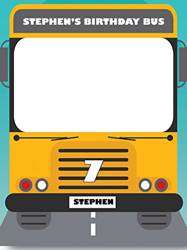 Custom Congratulations School Bus Theme Photo Booth Prop - sizes 36x24, 48x36; Pesonalized Education Transportation Home Decorations, Handmade Party Supply Photo Booth (Handmade Halloween Decorations)