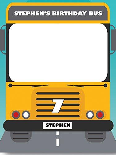 Custom Congratulations School Bus Theme Photo Booth Prop - sizes 36x24, 48x36; Pesonalized Education Transportation Home Decorations, Handmade (Bus Prop)