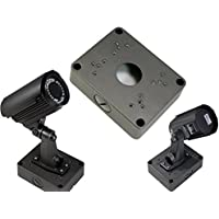 Evertech Black/Gray 5.3 Camera Base Junction Outlet Box for Adjustable Lens Bullet CCTV Security Cameras