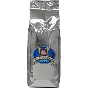 San Marco Coffee Flavored Ground Coffee, Toasted Almond Amaretto, 1 Pound