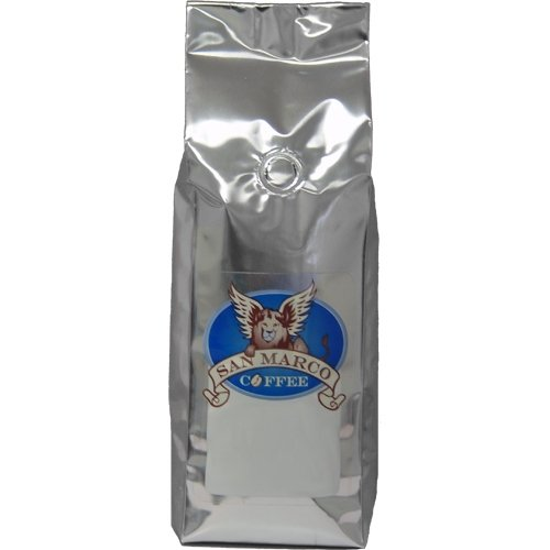 Coffee Flavored Almond Decaf Toasted - San Marco Coffee Decaffeinated Flavored Whole Bean Coffee, Toasted Almond Amaretto, 1 Pound