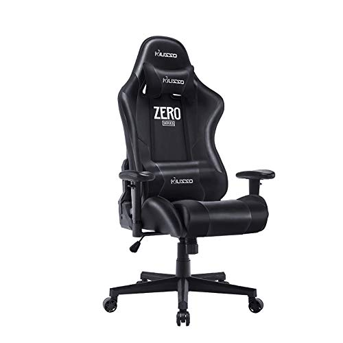 Musso Ergonomic (Black) Gaming Chair Adjustable Esports Gamer Chair, Adults Racing Video Game Chair, Large Size PU Leather High-Back Executive Office Chair