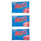 Jell-O Sugar Free Red Gelatin,18-2.7 Oz (76g) Pouches Net Wt. 3lb 0.6oz (Pack of 18)