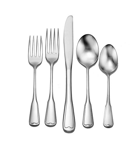 Liberty Tabletop Richmond 65 Piece Flatware Set for 12 Made in - Silverplate Meat Fork Serving