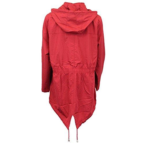Raveplnf à femme rouge clair queue Veste poisson Soul Cagoule imperméable capuchon de de Brave pluie wtBxH06q