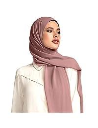 Voile Chic Dusty Rose Premium Chiffon Hijab (Non-Slip)