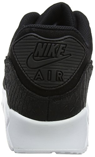 Nike Air Max 90 Premium Lifestyle Sneakers Heren Zwart / Zwart-wit Nieuwe 700155-008 Zwart