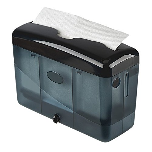 Simply Home USA Countertop Multifold Hand Towel Dispenser, Plastic (Black)