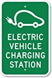 Electric Vehicle Charging Station (with Graphic) Sign, 18'' x 12''