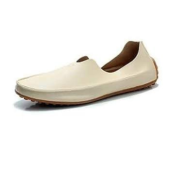 HhGold Mocasines para Hombres Zapatos, Minimalismo para Hombres Mocasines Casual Viento Cuero de Fibra súper