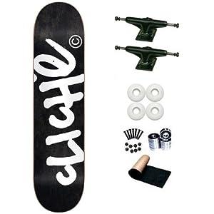 Cliche Black Handwritten 8.0 Skateboard Deck Complete by Cliche