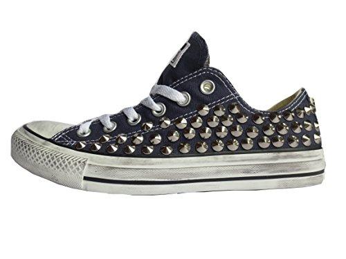 Converse all star Borchie OX basse blu navy (prodotto artigianale )