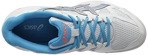 Asics Gel-Flare 5 Women's Multisports Indoor Shoes (B45PQ) White / Blue Atoll / Fiery Coral NQ40gPVH