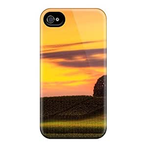 Durable Defender Case For Iphone 4/4s Tpu Cover(two Trees)