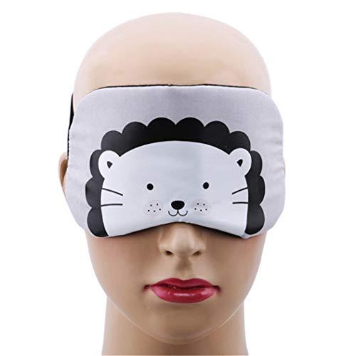 LZIYAN Cartoon Sleep Eye Mask Cute Animal Pattern Eye Mask Blindfold Eye Patch Sleeping Eyeshade Travel Shade Cover,Lion by LZIYAN (Image #4)