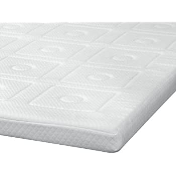 this item sensorpedic luxury 3inch quilted memory foam mattress topper queen size white