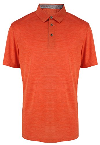 Classic Tennis Polo - Mens Golf Shirt Sports Dri Fit Classic Tennis Training Activewear Polo Orange XL