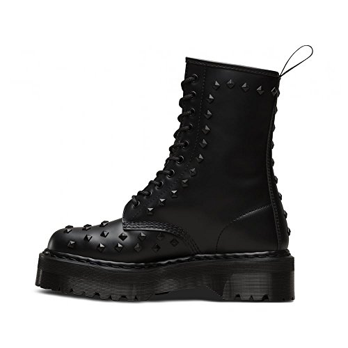 Womens Leather 1490 Boots Dr Noir Stud 10 martens eyelet 5xPnRnBY