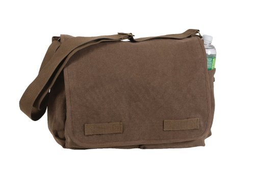 Rothco Vintage Washed Canvas Messenger Bag, Brown (Best Street Photography Bag)