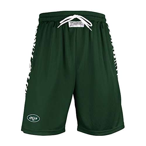 NFL New York Jets Men's Zebra Print Accent Team Logo Active Shorts, Medium, (Tiger Print Shorts)