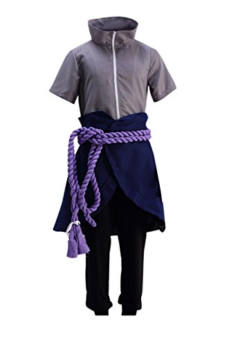 DAZCOS Anime Uchiha Sasuke Men's Cosplay Costume (Men (Sasuke Costumes)