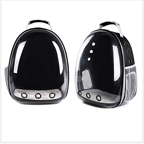 yangxiurongdedian Pet Backpacks?Portable Pet Cat Dog Puppy Backpack Carrier Bubble 360 Degree Transparent Space Capsule Backpack, Black