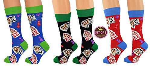 ARAD Novelty Casino Socks for Men and Women, Crazy Vegas-Themed Clothes -