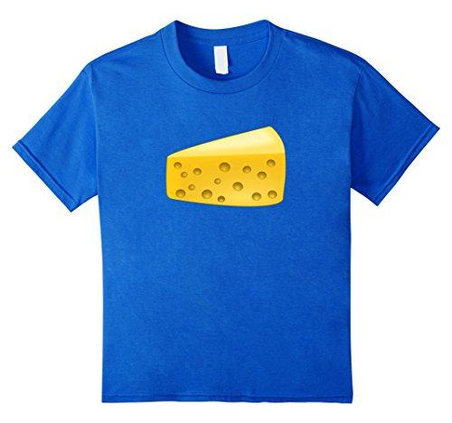 Kids Block Cheese Wedge Costume T-Shirt Matching Wine Glass Pair 10 Royal (Wine Cheese Adult Couples Costumes)