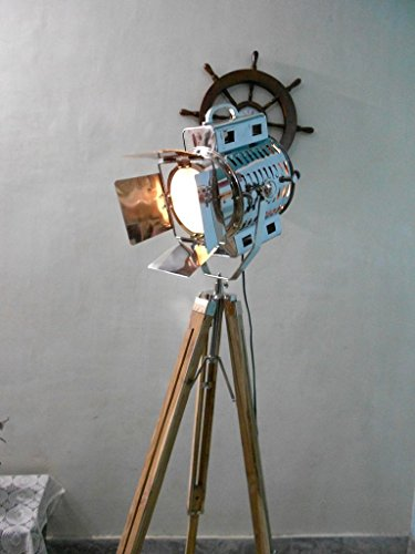 Nautical 1950 39 s hollywood studio tripod floor lamp for 1940s hollywood studio floor lamp