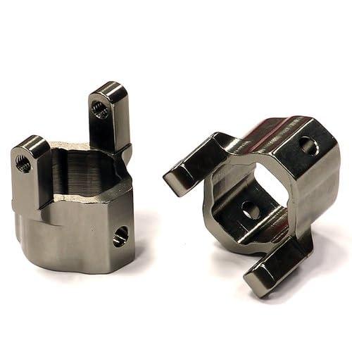 Integy RC Model Hop-ups C24568GUN Billet Machined Alloy Caster Blocks for Axial SCX-10 Honcho & Dingo