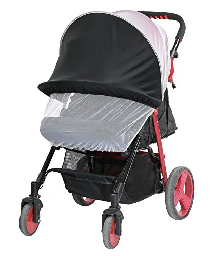 Dreamsoule Baby Stroller Sun Shading Cloth Cover Baby Carriage Mosquito Net Protection Against Ultraviolet Ray/Dust/Bug, Universal Size, Weather Protection, White by Dreamsoule
