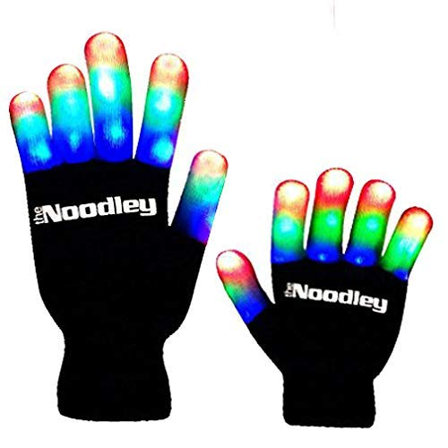 (The Noodley Flashing LED Light Gloves Kids & Teen Size)