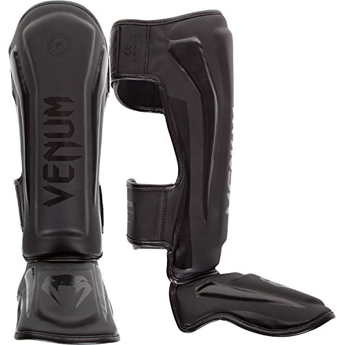 Venum Elite Standup Shinguards, Matte/Black, Medium