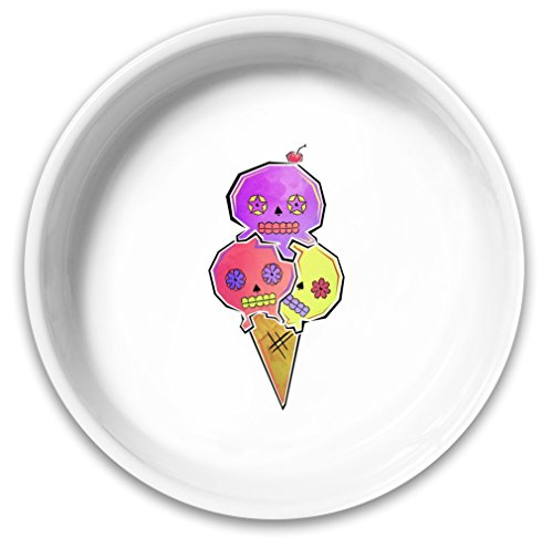 Sugar Skull Ice Cream Dog Bowl|