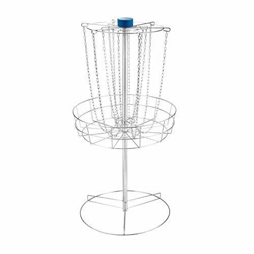 "Popsport Disc Golf Basket 55 or 56.5 Height Portable Disc Golf Basket with Double Chains Portable Practice Target Steel Frisbee Hole Disc Golf Target for Disc Golfers (56.5"" Disc Golf Basket) by Popsport"