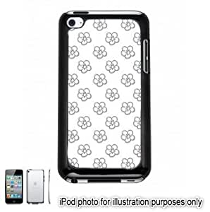 Gray Grey Pretty Floral Flowers #2 Pattern Case For Samsung Note 2 Cover Touch Hard Shell Black 4th Generation