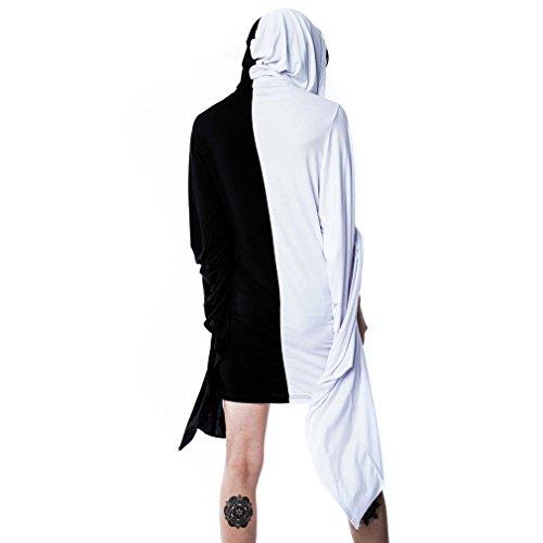 Hood Schwarz Jinx Sorcery Gothic Weiß Kapuze Mini Kapuzenkleid Damen Kleid Killstar mit Langarm pXxTPYxw