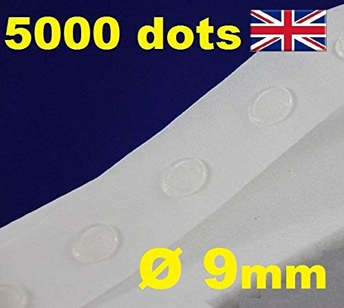5000pastilles de colle transparents amovibles facile à décoller pour fabrication de cartes, 9mm 9mm Glue Dots