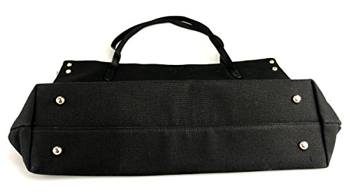 Tote Women's Large Capacity Canvas HEARD Large Shoulder Handbag Black WHAT YOU FUCK Bags aaEOwqg