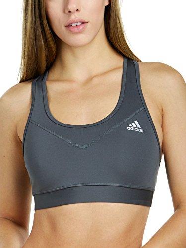 adidas Womens Training TechFit Bra, Grey Five/Matte Silver, Large