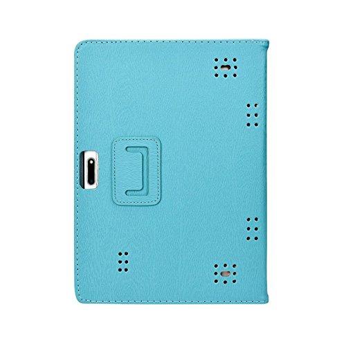 Transwon 10.1 Tablet Case for Huashe 10 Inch Tablet, Yuntab K107, Kivors 10.1, Batai 10, MaiTai 10, GIMTVTION PT107, YELLYOUTH 10, KUBI 10, Plum Optimax 10, Lnmbbs/LLLtrade/BEISTA 10.1 - Blue