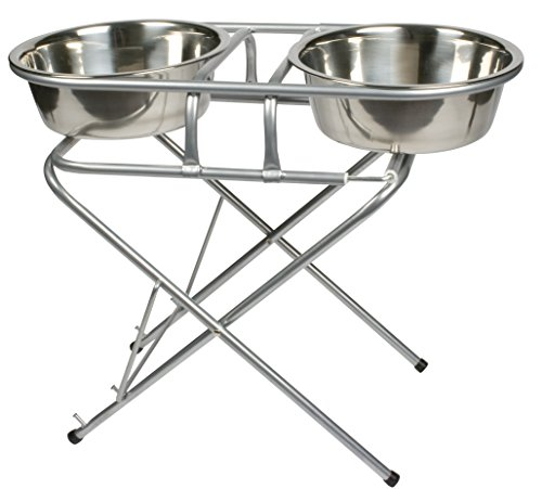 Charmant Pet Supplies : Jack And Dixie Stainless Steel Adjustable Elevated Dog Bowl  And Stand Set : Amazon.com