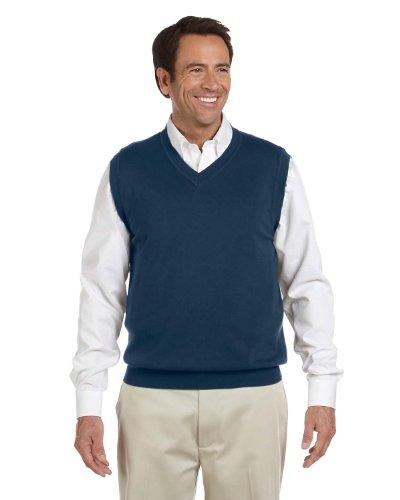 Womens V-neck Sweater Vest - Devon & Jones Men's V-Neck Vest (D477) -NAVY -2XL