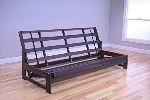 Kodiak Aspen Futon Frame with Reclaim Mocha Finish, Full ()